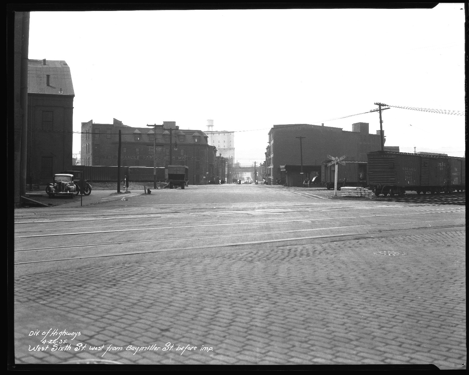 Street Improvement Photographs -- Box 45, Folder 05 (Sixth Street) -- negative, 1935-04-22