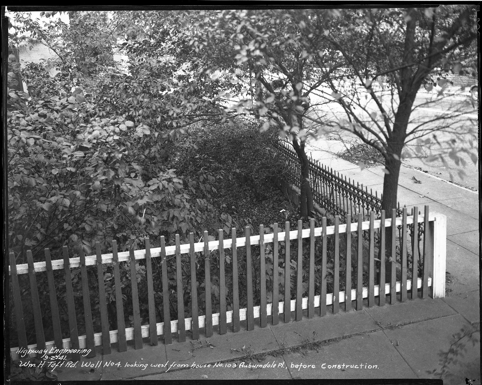 Street Improvement Photographs -- Box 45, Folder 41 (William H. Taft Road) -- negative, 1941-09-29