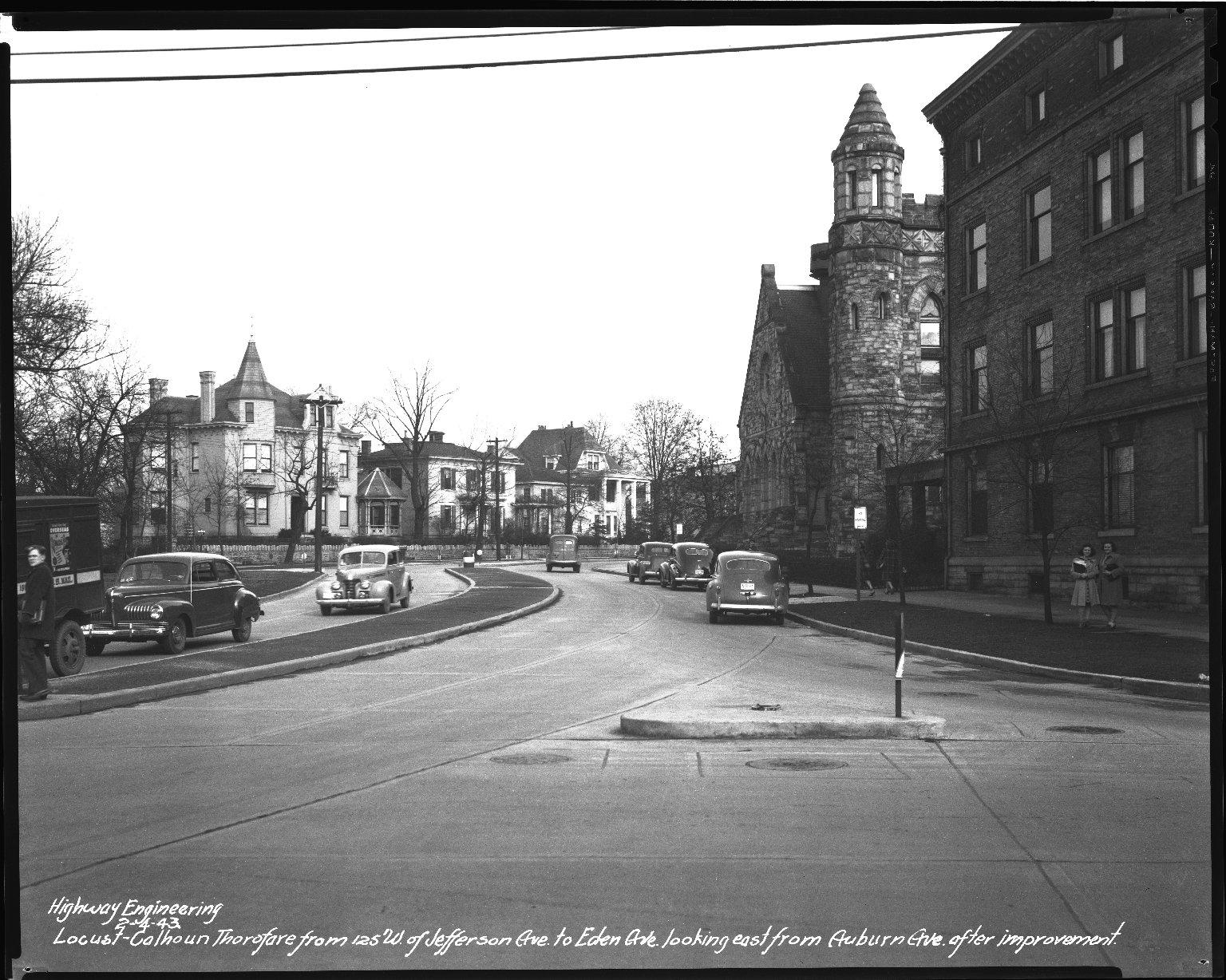 Street Improvement Photographs -- Box 45, Folder 44 (William H. Taft Road) -- negative, 1943-02-04