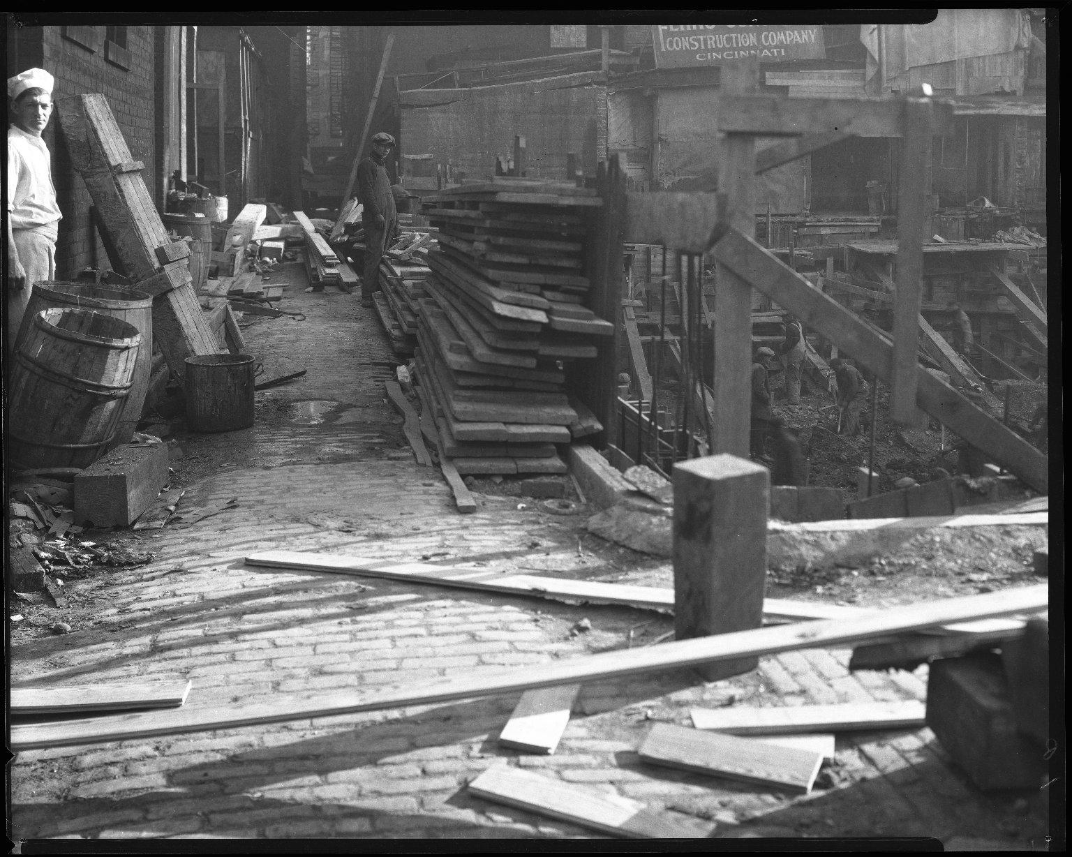 Street Improvement Photographs -- Box 46, Folder 06 (Thorp and Holcomb Alley) -- negative, 1930