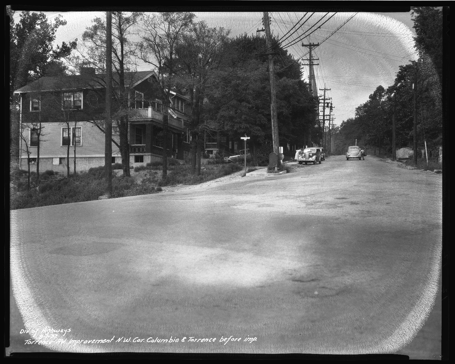 Street Improvement Photographs -- Box 46, Folder 07 (Torrence Parkway) -- negative, 1937-09-01
