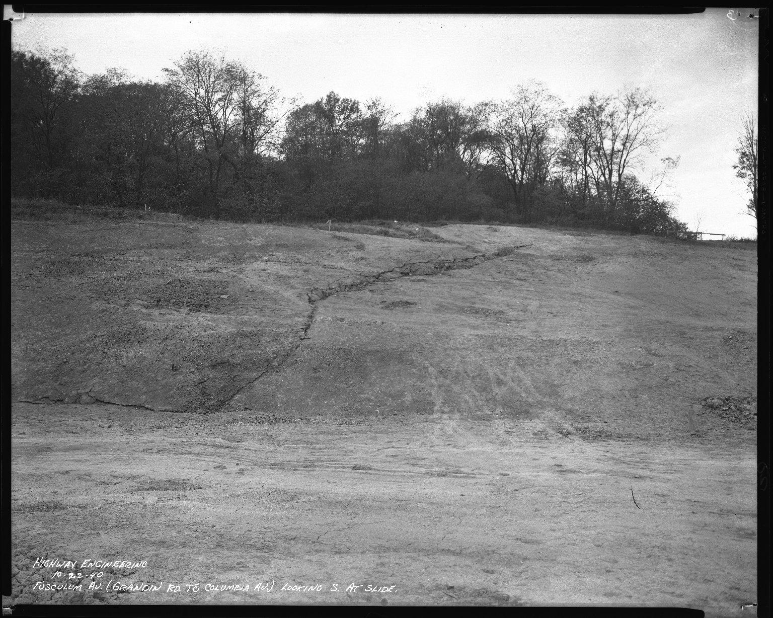 Street Improvement Photographs -- Box 46, Folder 16 (Tusculum Avenue) -- negative, 1940-10-22