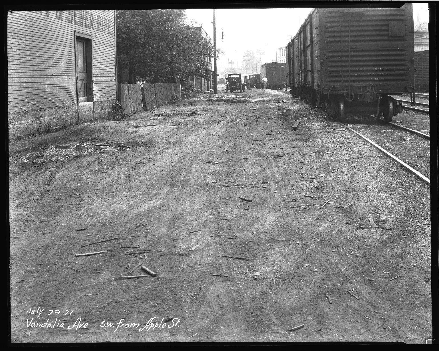Street Improvement Photographs -- Box 46, Folder 23 (Vandalia Avenue) -- negative, 1927-07-29