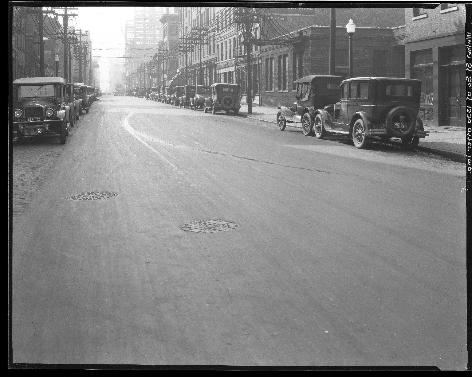 Street Improvement Photographs -- Box 46, Folder 48 (Walnut Street) -- negative, 1928