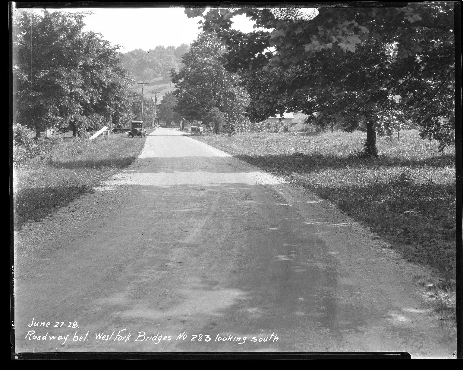 Street Improvement Photographs -- Box 47, Folder 13 (West Fork Bridge) -- negative, 1928-06-27