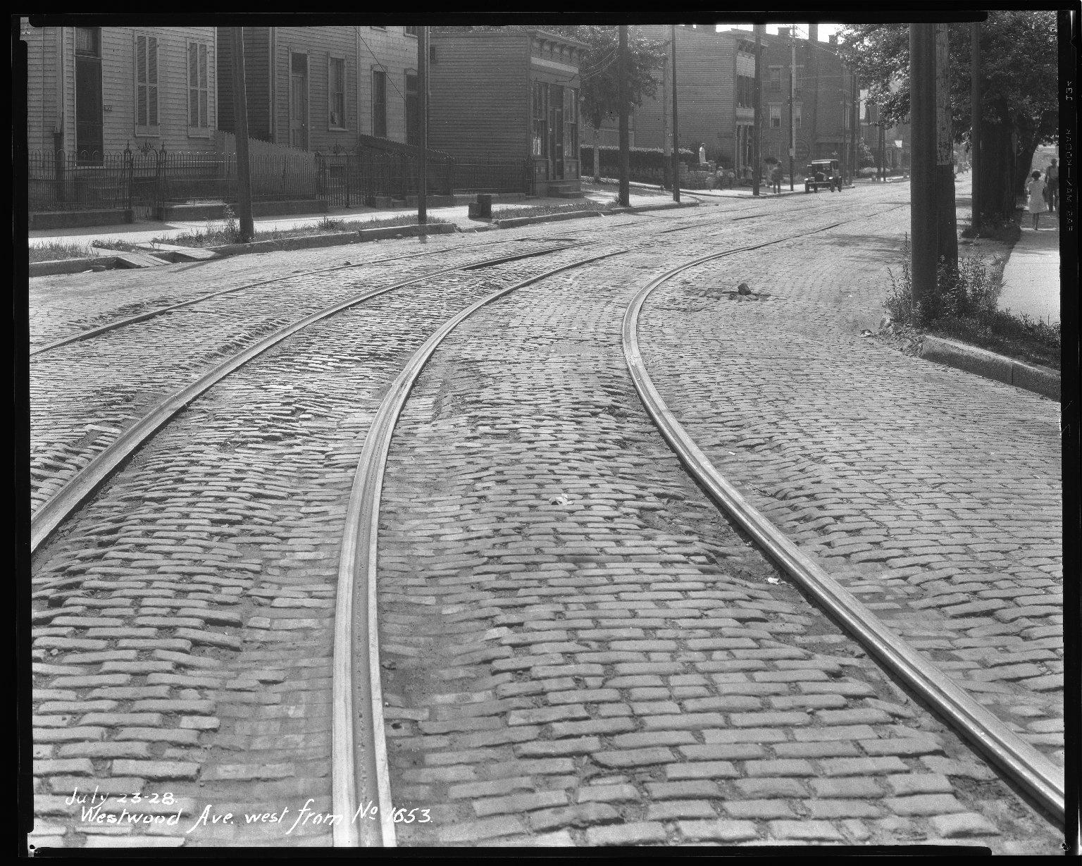Street Improvement Photographs -- Box 47, Folder 15 (Westwood Avenue) -- negative, 1928-07-23