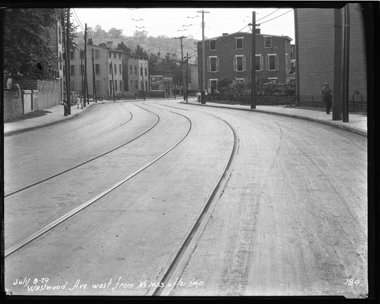 Street Improvement Photographs -- Box 47, Folder 15 (Westwood Avenue) -- negative, 1929-07-08