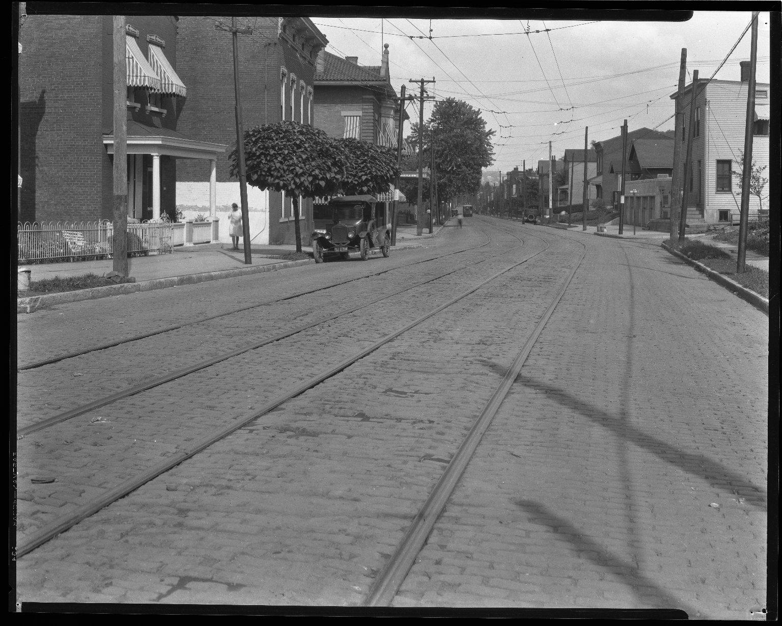 Street Improvement Photographs -- Box 47, Folder 15 (Westwood Avenue) -- negative, 1928