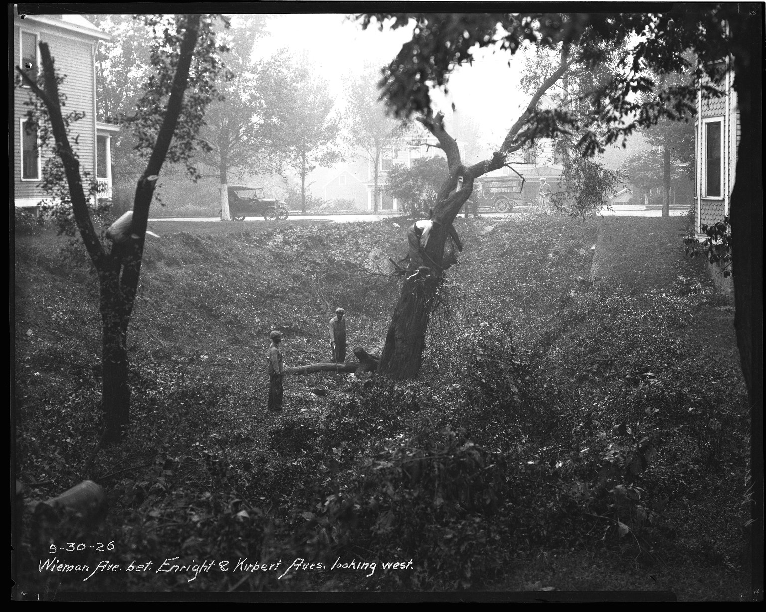 Street Improvement Photographs -- Box 47, Folder 22 (Wieman Avenue) -- negative, 1926-09-30
