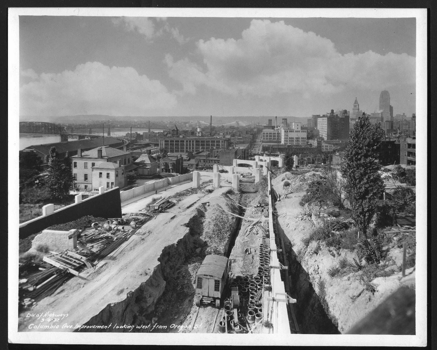 Street Improvement Photographs -- Box 48, Folder 23 (September 1, 1937 - September 4, 1937) -- print, 1937-09-04