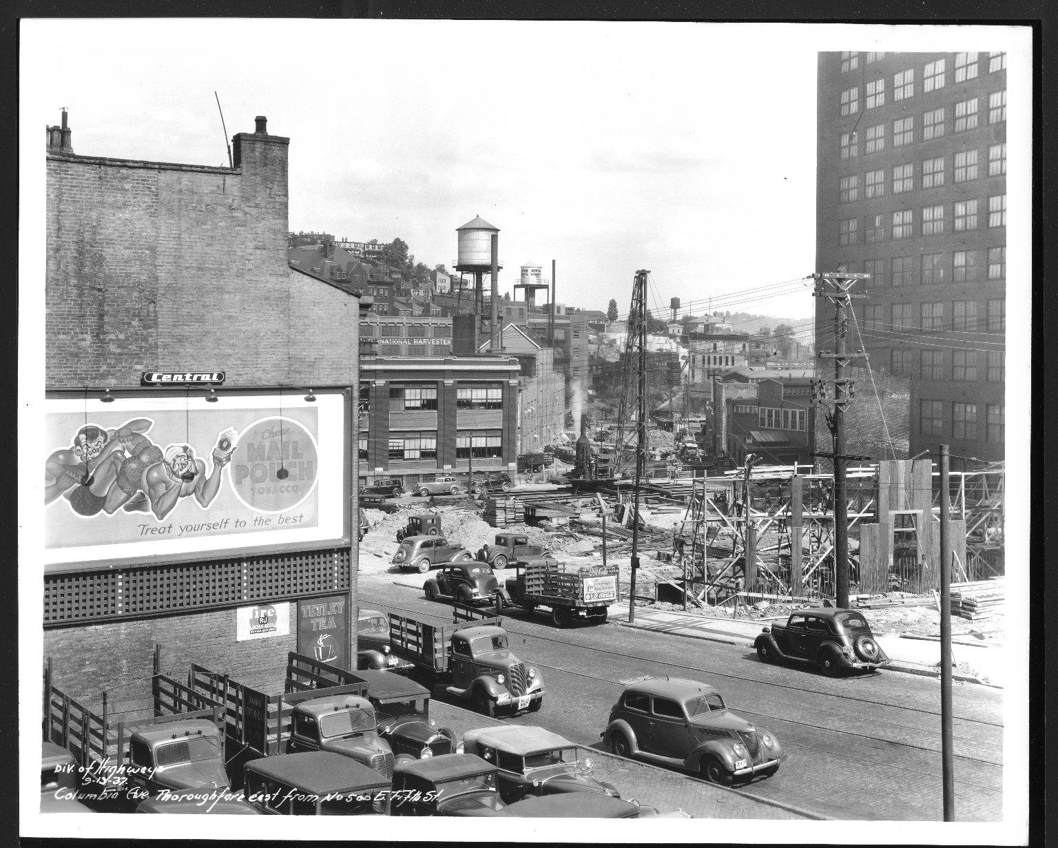 Street Improvement Photographs -- Box 48, Folder 24 (September 13, 1937 - September 16, 1937) -- print, 1937-09-13