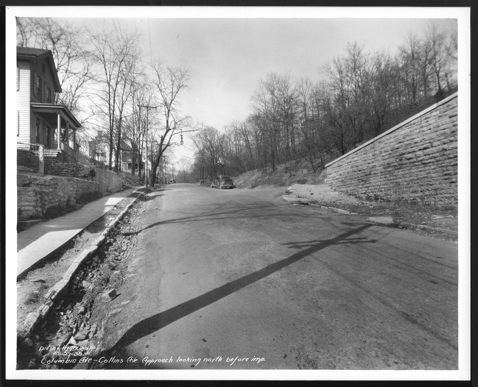 Street Improvement Photographs -- Box 48, Folder 31 (March 1, 1938 - March 21, 1938) -- print, 1938-03-21