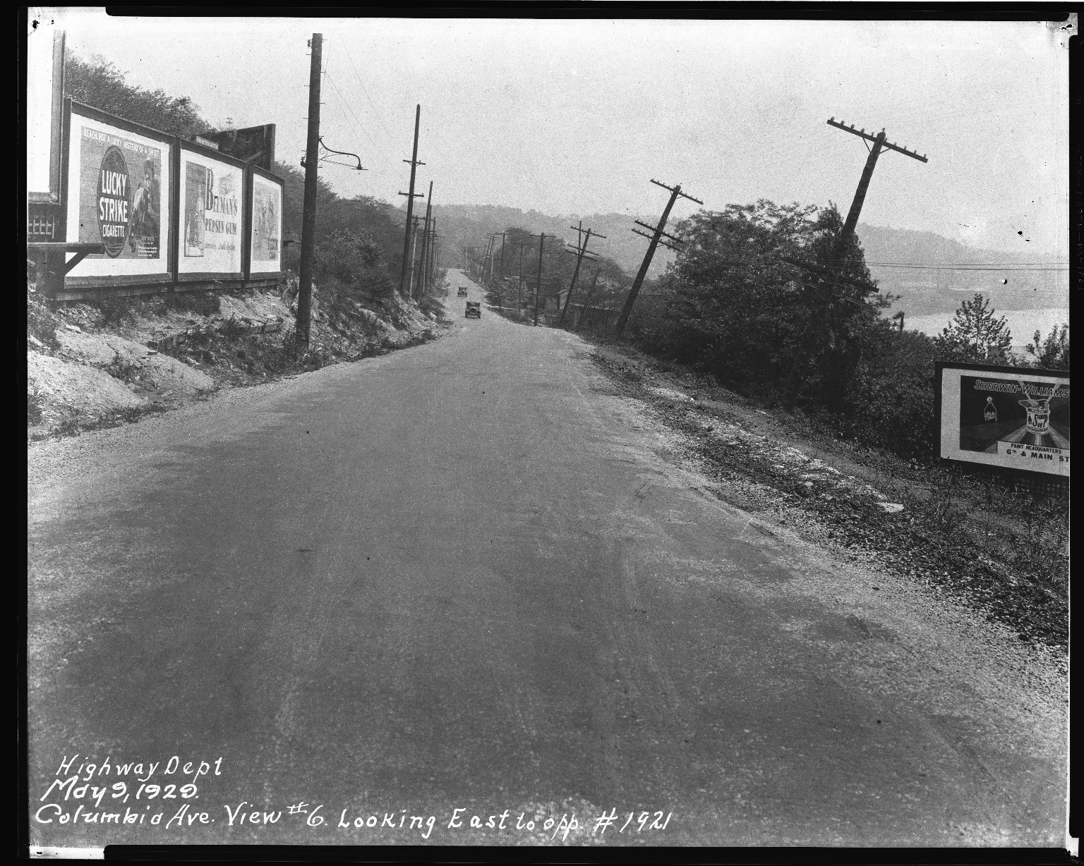 Street Improvement Photographs -- Box 50, Folder 02 (May 9, 1929 - January 17, 1935) -- negative, 1929-05-09