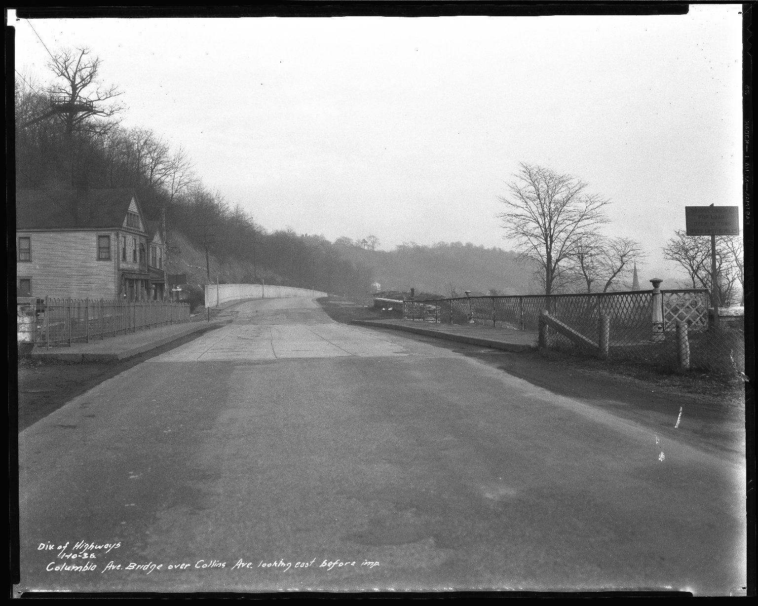 Street Improvement Photographs -- Box 50, Folder 03 (January 10, 1936 - January 15, 1936) -- negative, 1936-01-10