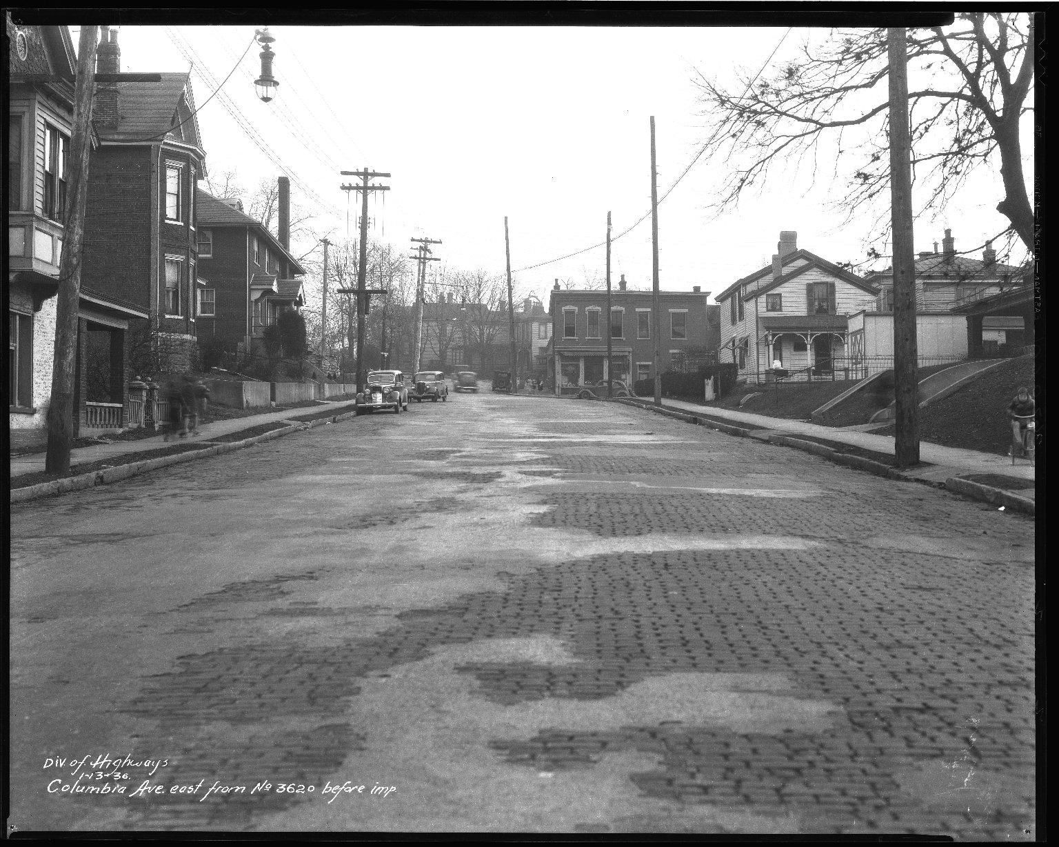 Street Improvement Photographs -- Box 50, Folder 03 (January 10, 1936 - January 15, 1936) -- negative, 1936-01-13