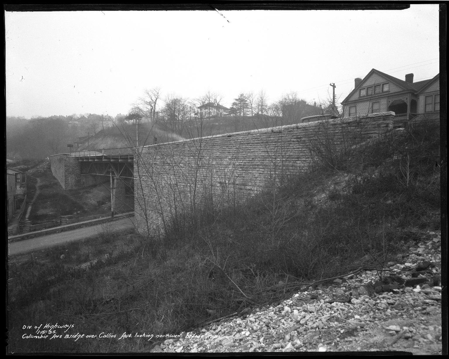 Street Improvement Photographs -- Box 50, Folder 03 (January 10, 1936 - January 15, 1936) -- negative, 1936-01-15