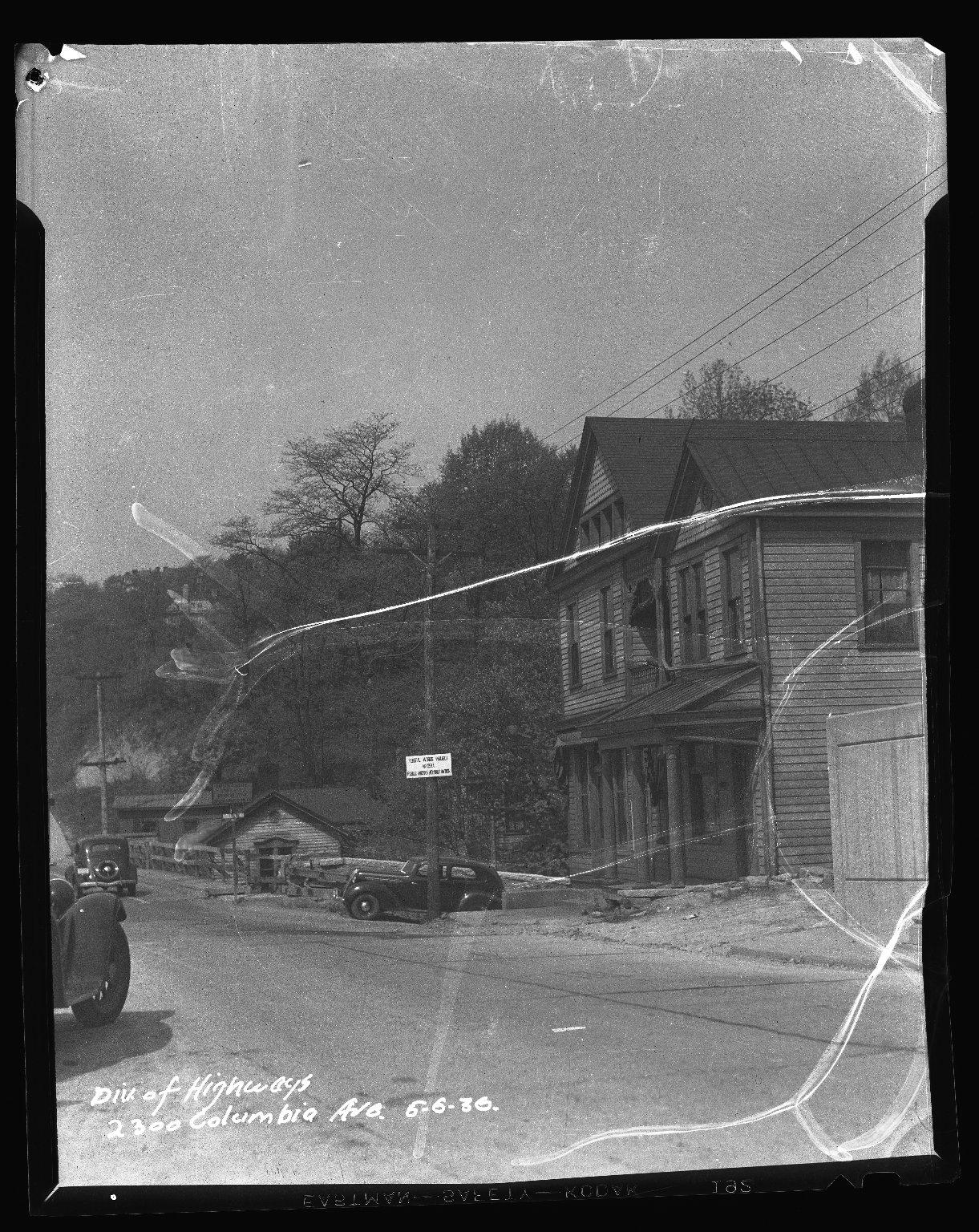 Street Improvement Photographs -- Box 50, Folder 04 (April 21, 1936 - June 6, 1936) -- negative, 1936-06-06