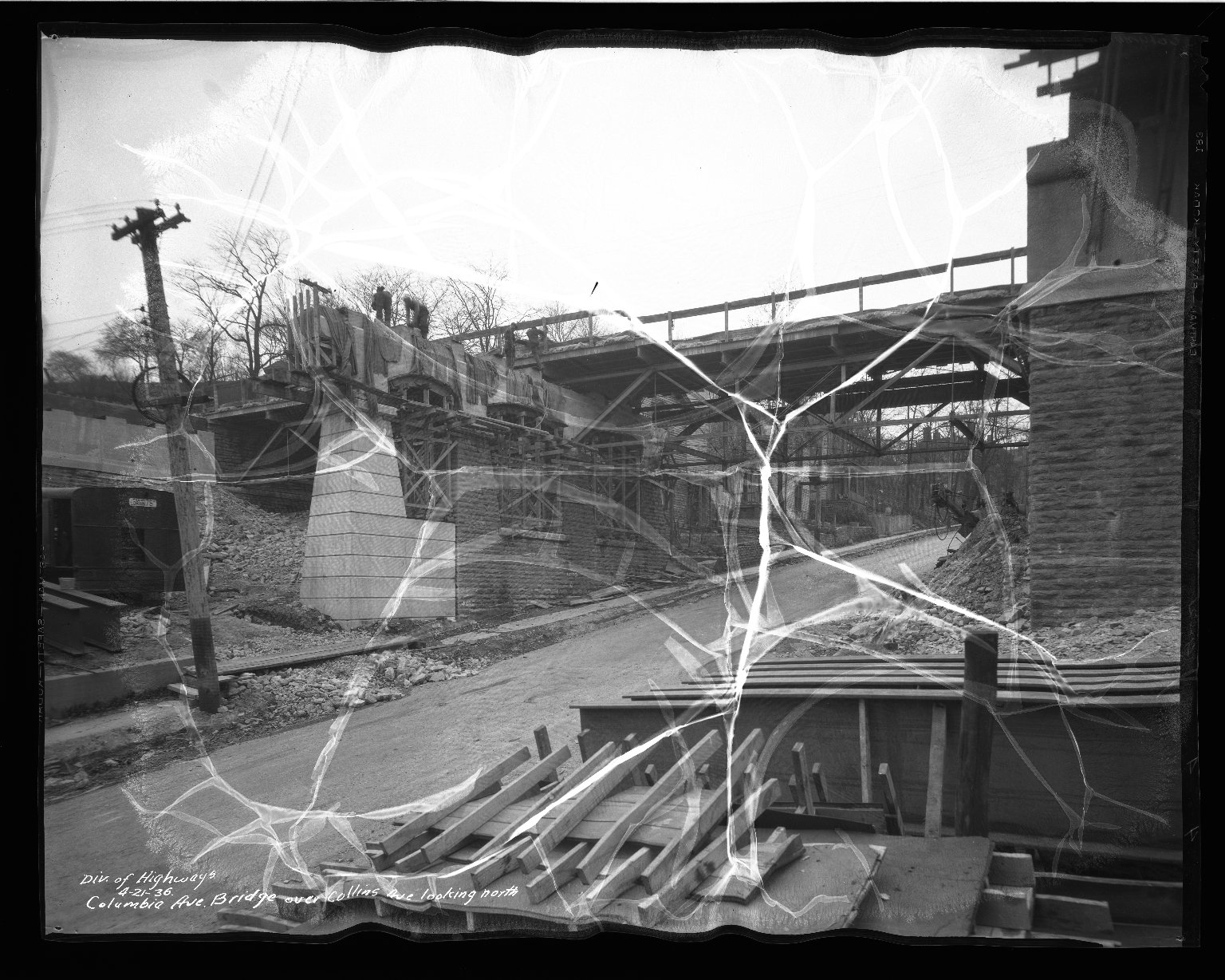 Street Improvement Photographs -- Box 50, Folder 05 (April 21, 1936 - June 23, 1936) -- negative, 1936-04-21