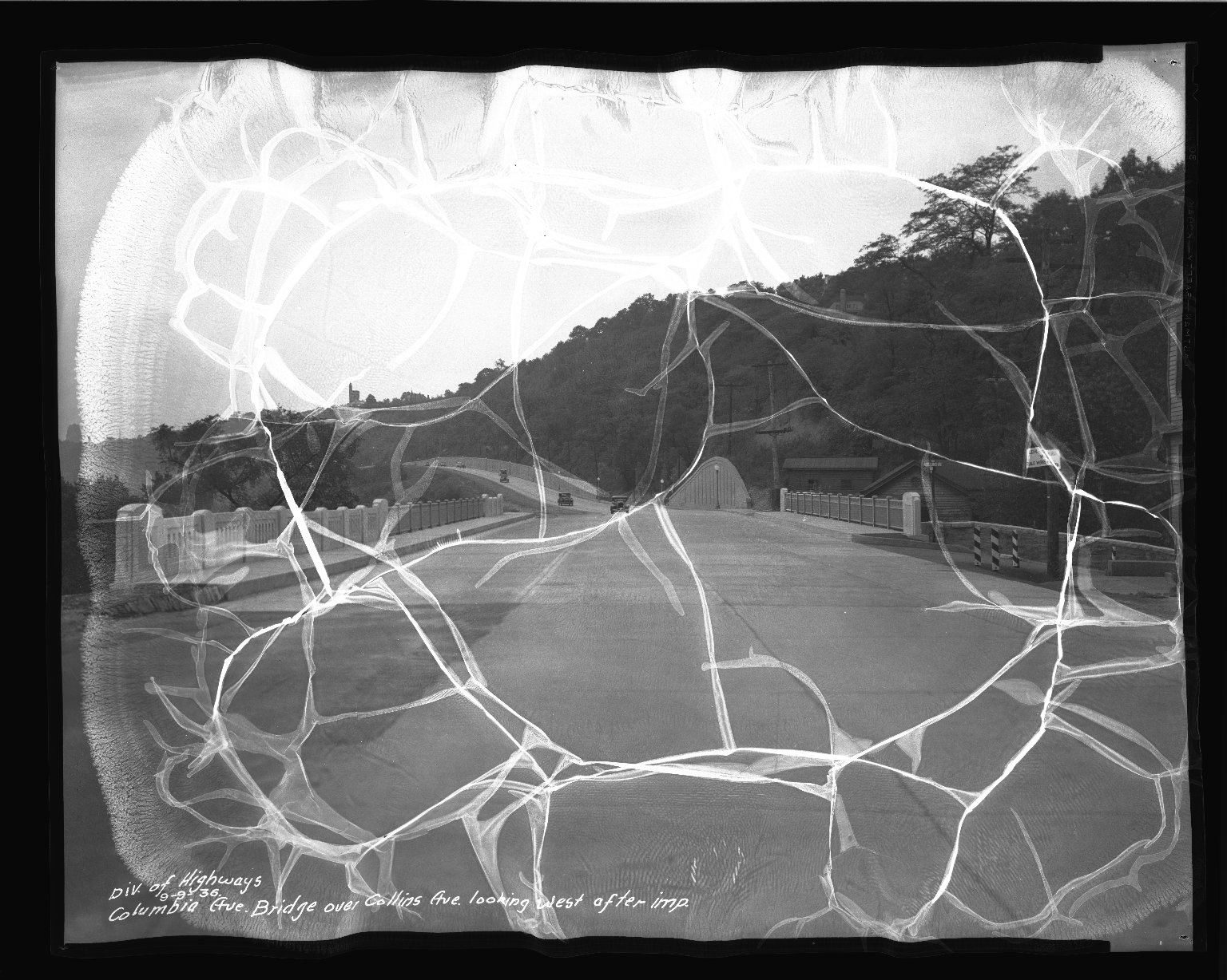 Street Improvement Photographs -- Box 50, Folder 06 (August 20, 1936 - September 27, 1936) -- negative, 1936-09-09