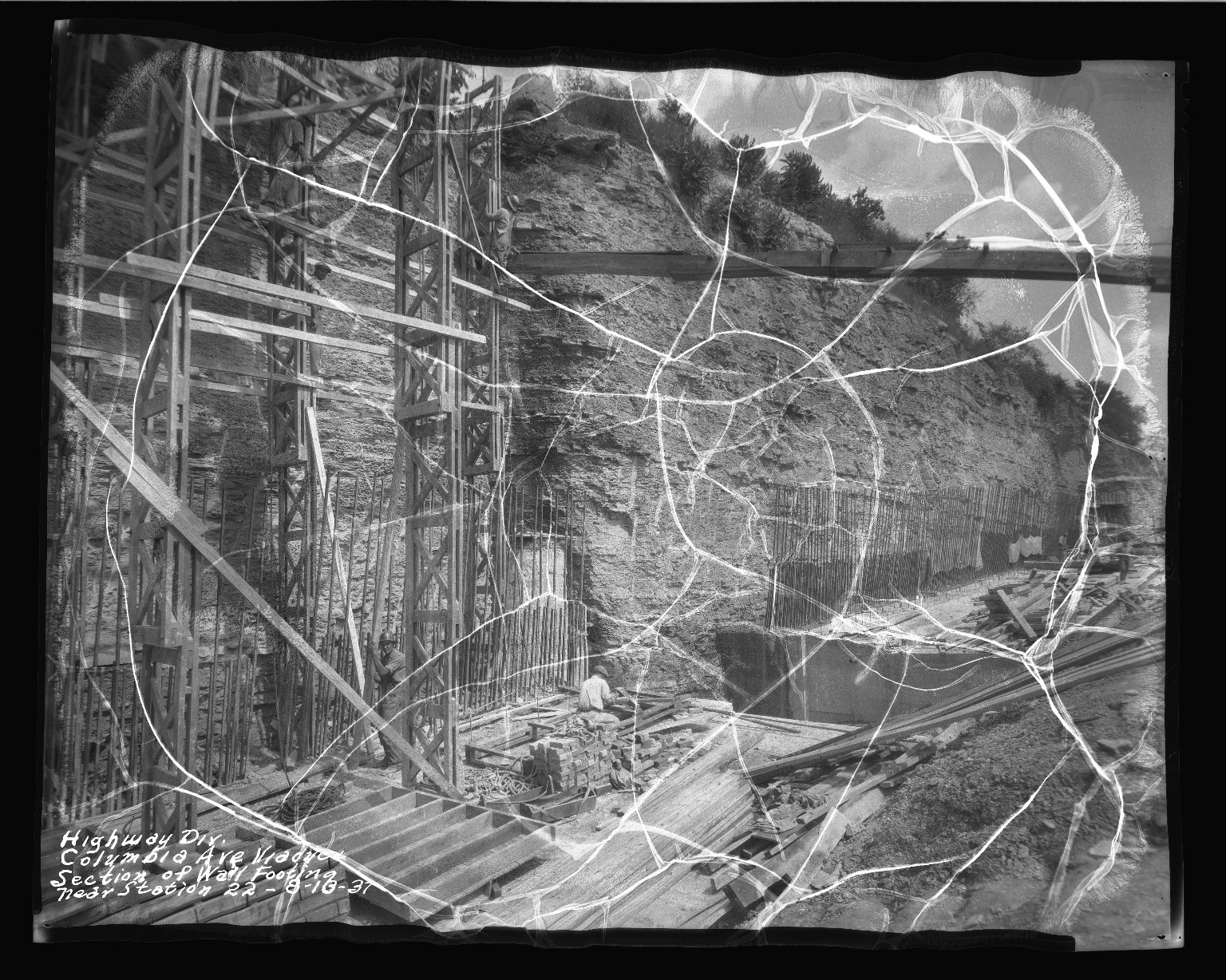 Street Improvement Photographs -- Box 50, Folder 12 (August 10, 1937 - August 31, 1937) -- negative, 1937-08-10