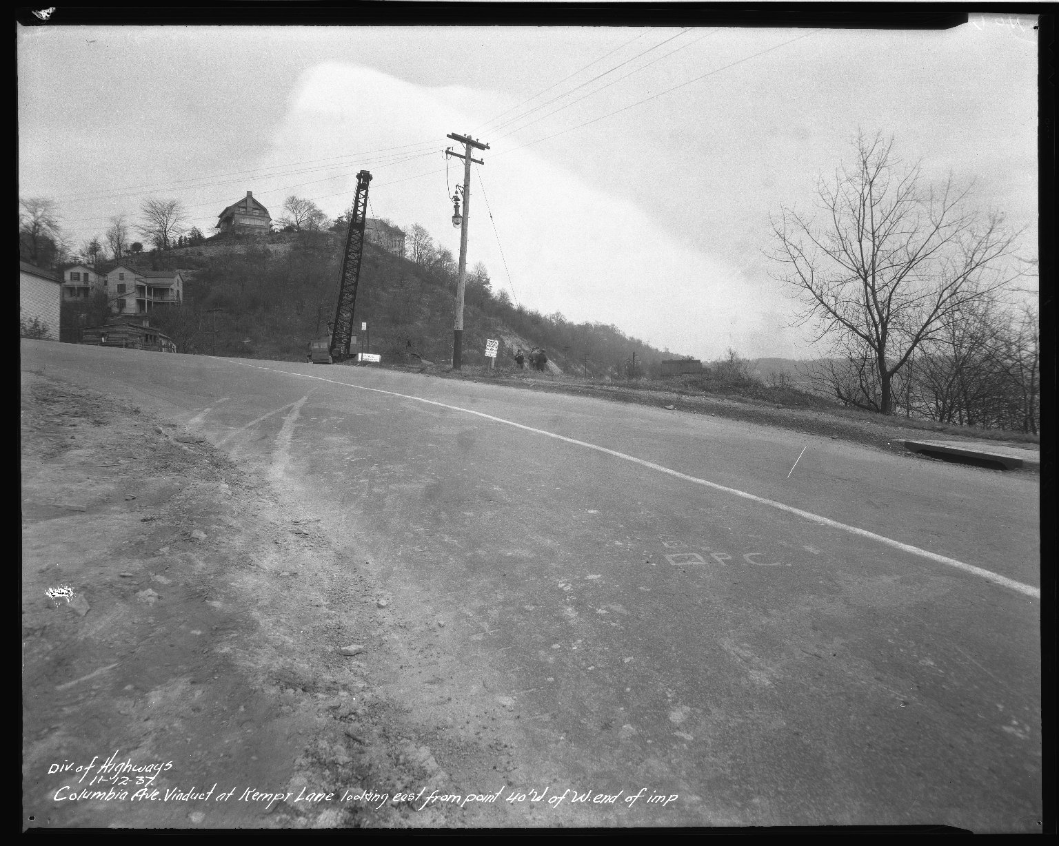 Street Improvement Photographs -- Box 50, Folder 17 (November 12, 1937 - December 28, 1937) -- negative, 1937-11-12