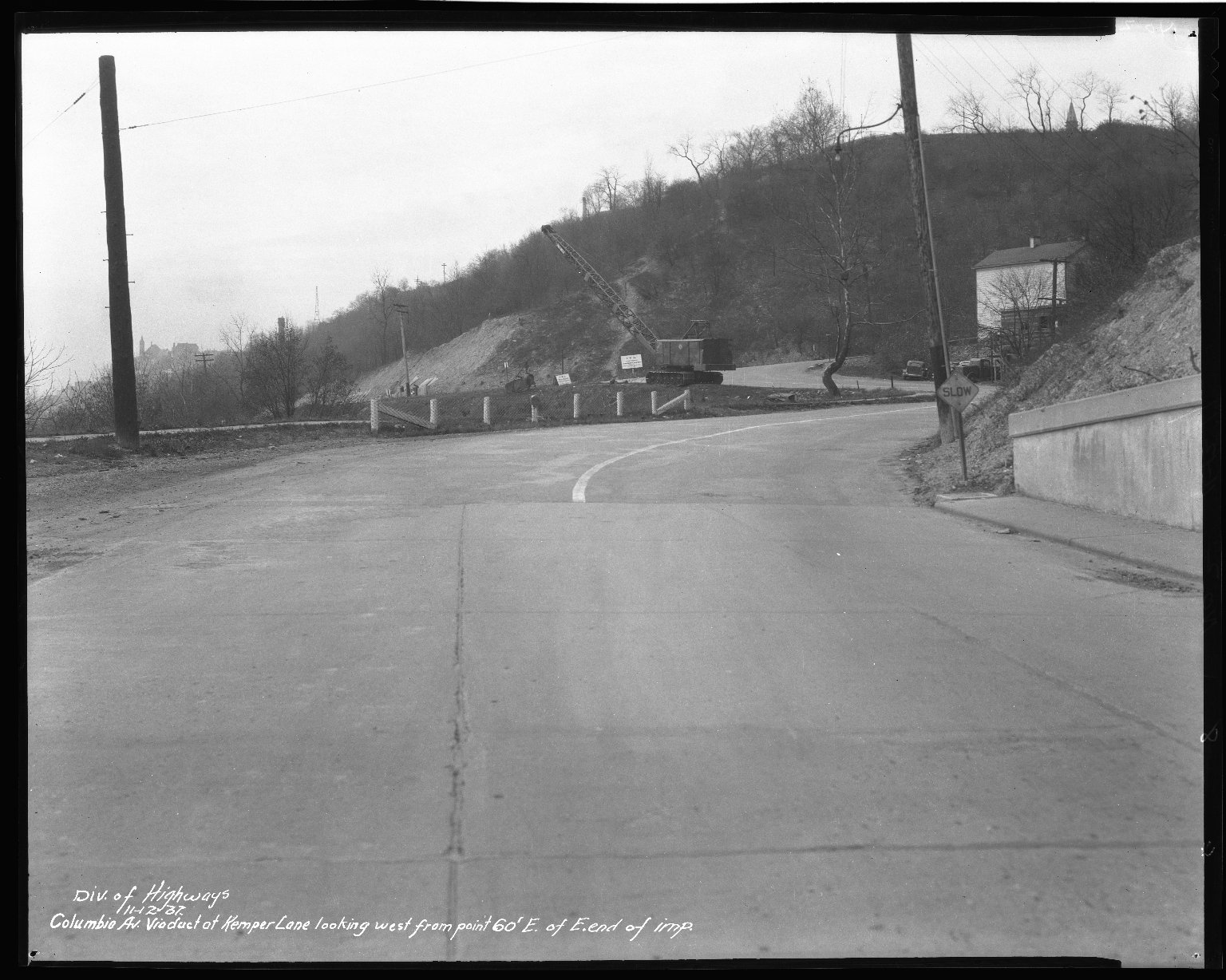 Street Improvement Photographs -- Box 50, Folder 17 (November 12, 1937 - December 28, 1937) -- negative, 1937-11-12