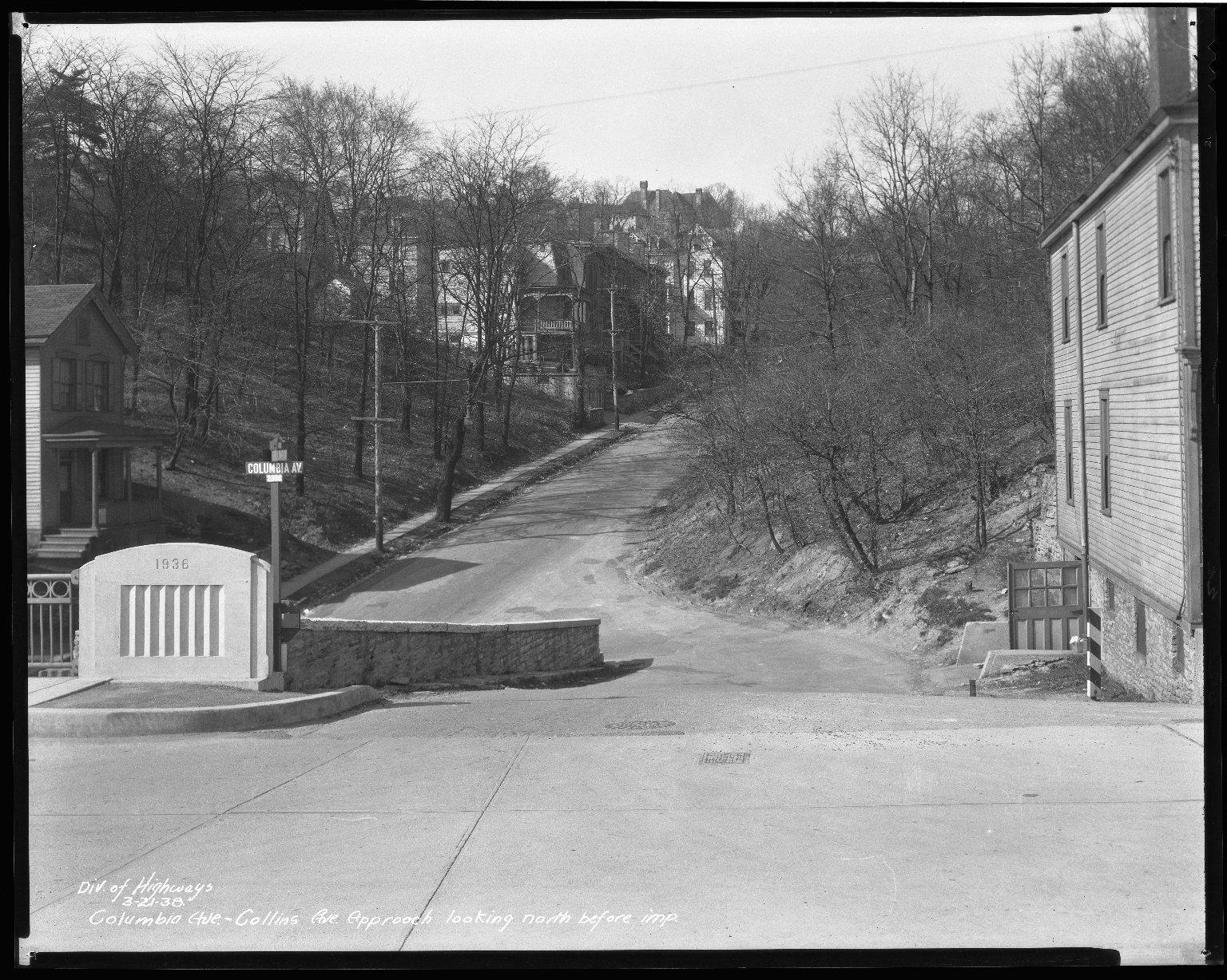 Street Improvement Photographs -- Box 50, Folder 19 (March 21, 1938) -- negative, 1938-03-21