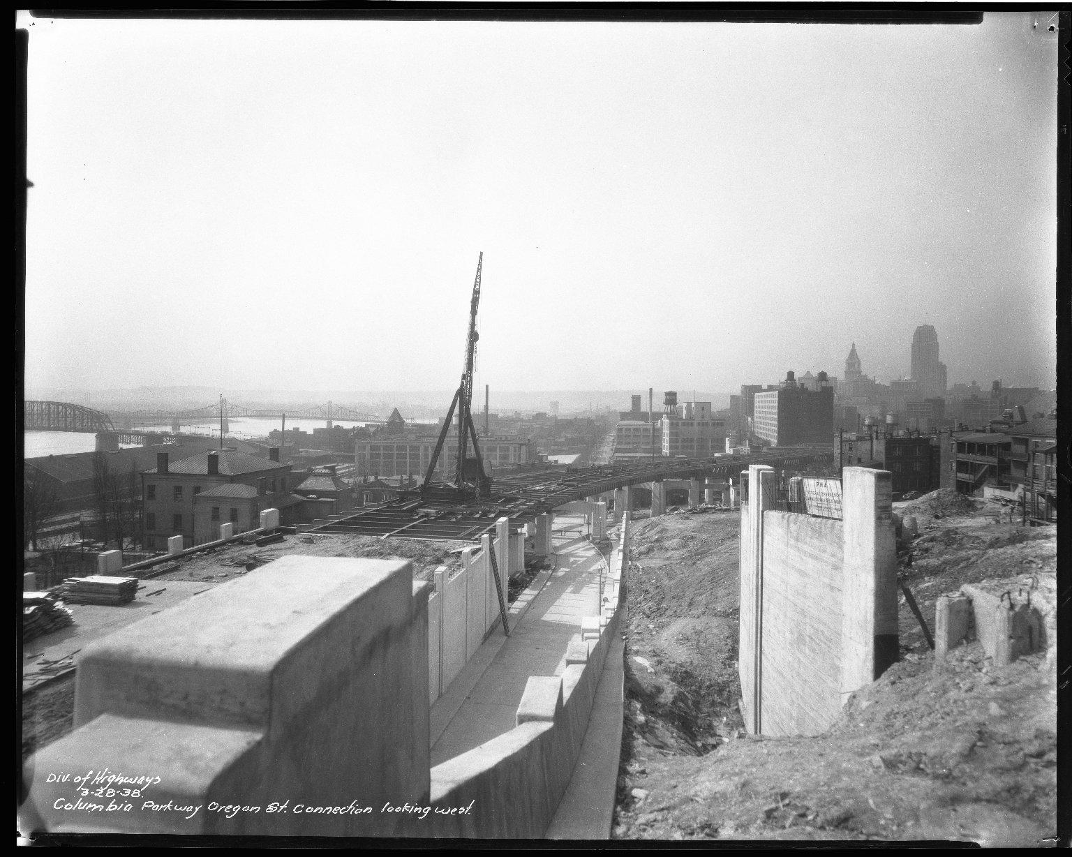 Street Improvement Photographs -- Box 50, Folder 20 (March 28, 1938) -- negative, 1938-03-28