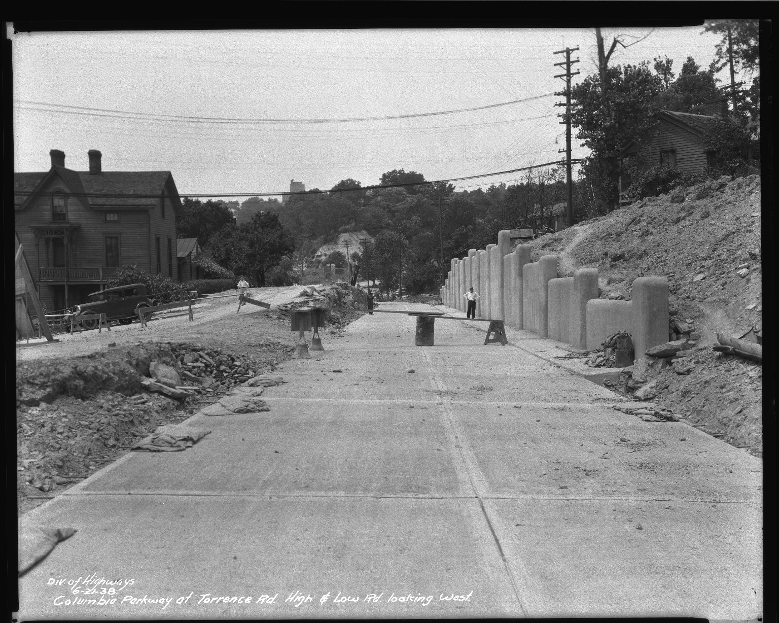 Street Improvement Photographs -- Box 50, Folder 22 (May 2, 1938 - June 27, 1938) -- negative, 1938-06-21