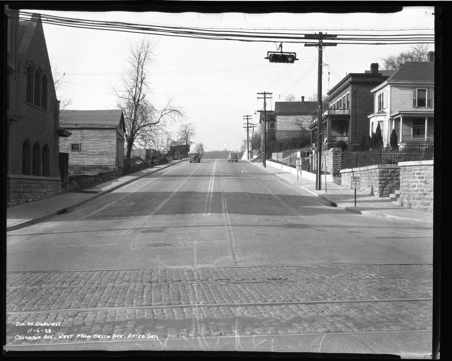 Street Improvement Photographs -- Box 50, Folder 23 (November 6, 1938 - November 7, 1938) -- negative, 1938-11-06