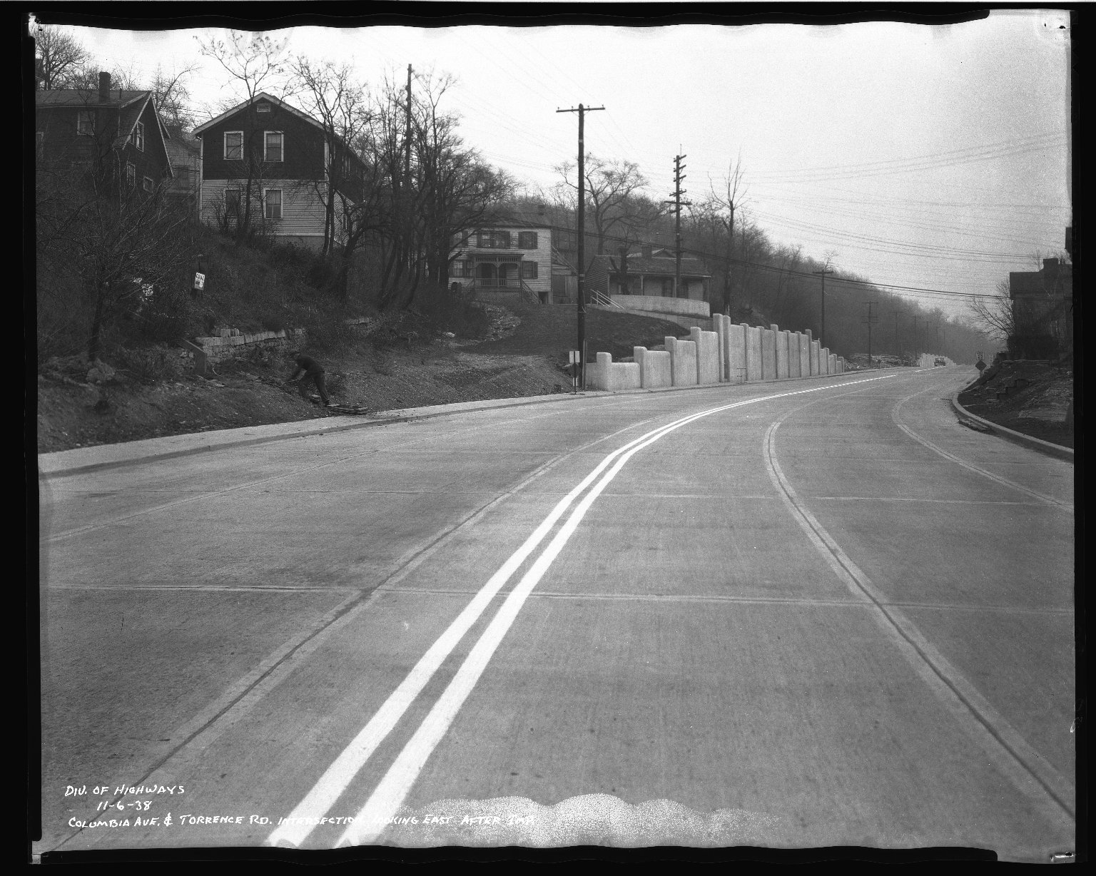 Street Improvement Photographs -- Box 50, Folder 24 (November 6, 1938 - November 7, 1938) -- negative, 1938-11-06