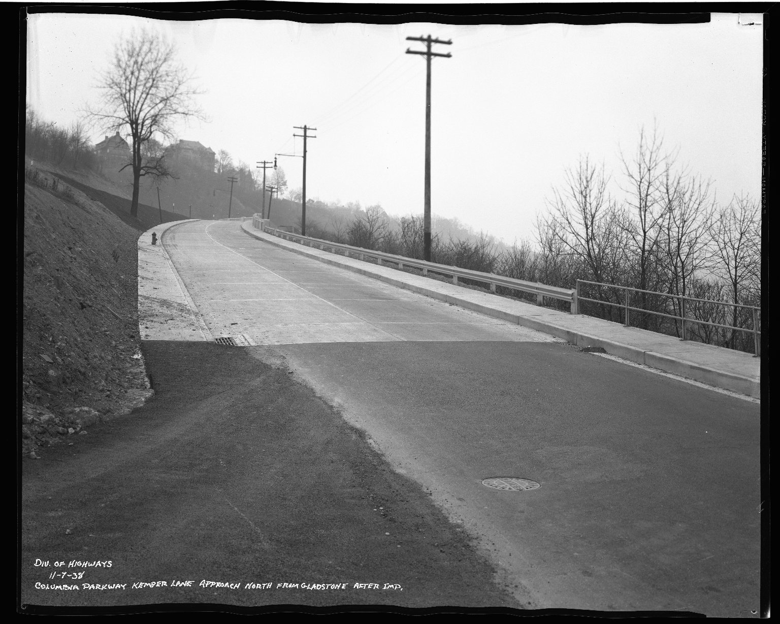 Street Improvement Photographs -- Box 50, Folder 25 (November 6, 1938 - November 7, 1938) -- negative, 1938-11-07