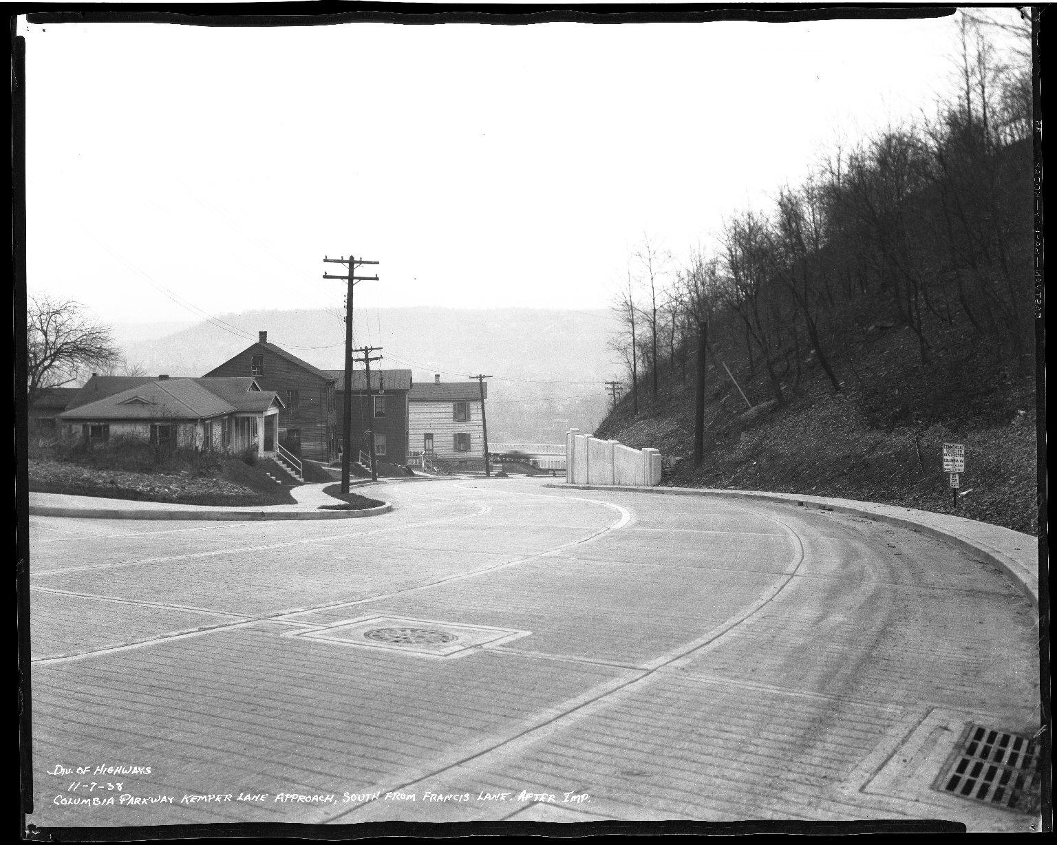 Street Improvement Photographs -- Box 50, Folder 25 (November 6, 1938 - November 7, 1938) -- negative, 1938-11-07