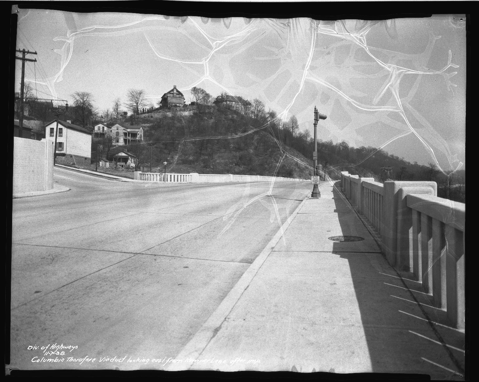 Street Improvement Photographs -- Box 50, Folder 26 (November 6, 1938 - November 7, 1938) -- negative, 1938-11-07