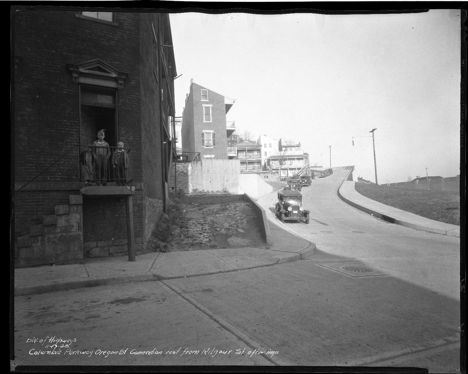 Street Improvement Photographs -- Box 50, Folder 27 (November 15, 1938 - November 21, 1938) -- negative, 1938-11-17