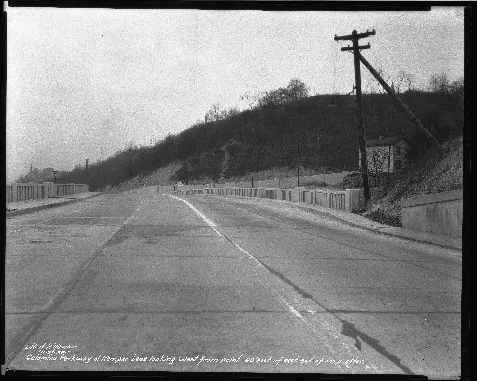 Street Improvement Photographs -- Box 50, Folder 28 (November 21, 1938) -- negative, 1938-11-21