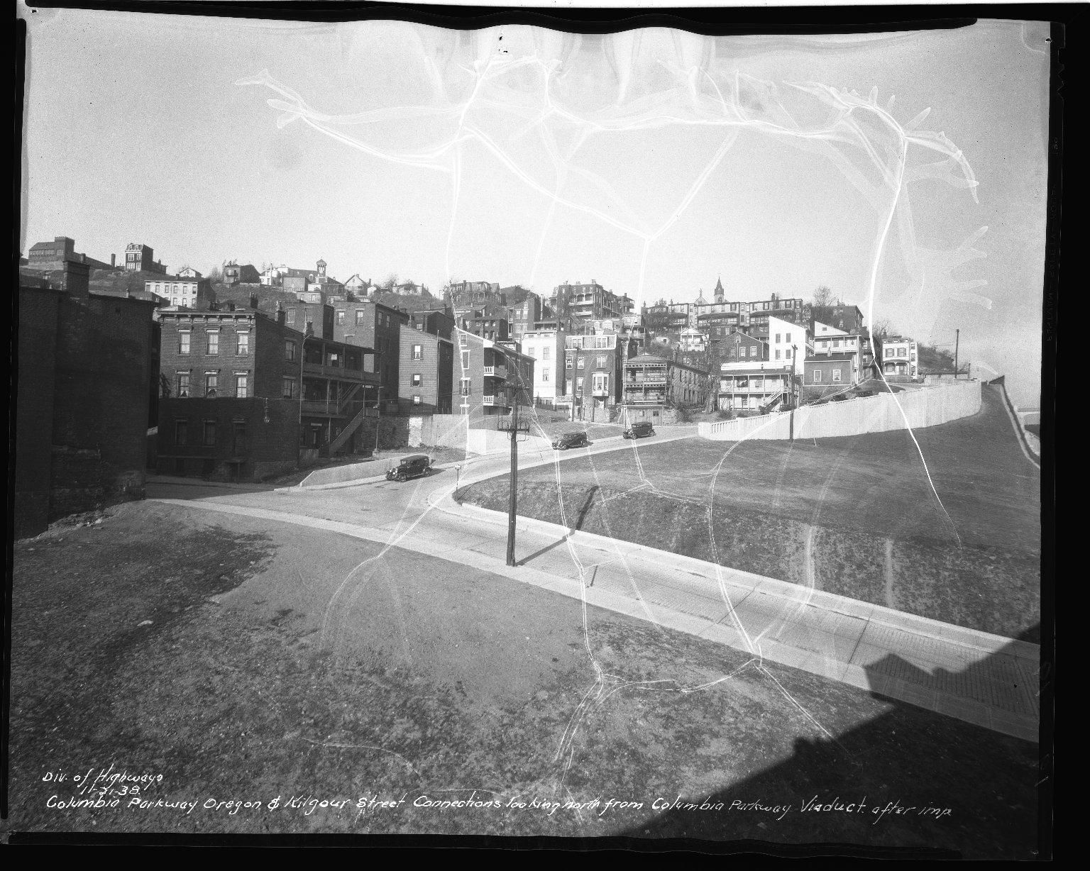 Street Improvement Photographs -- Box 50, Folder 29 (November 21, 1938 - November 30, 1938) -- negative, 1938-11-21