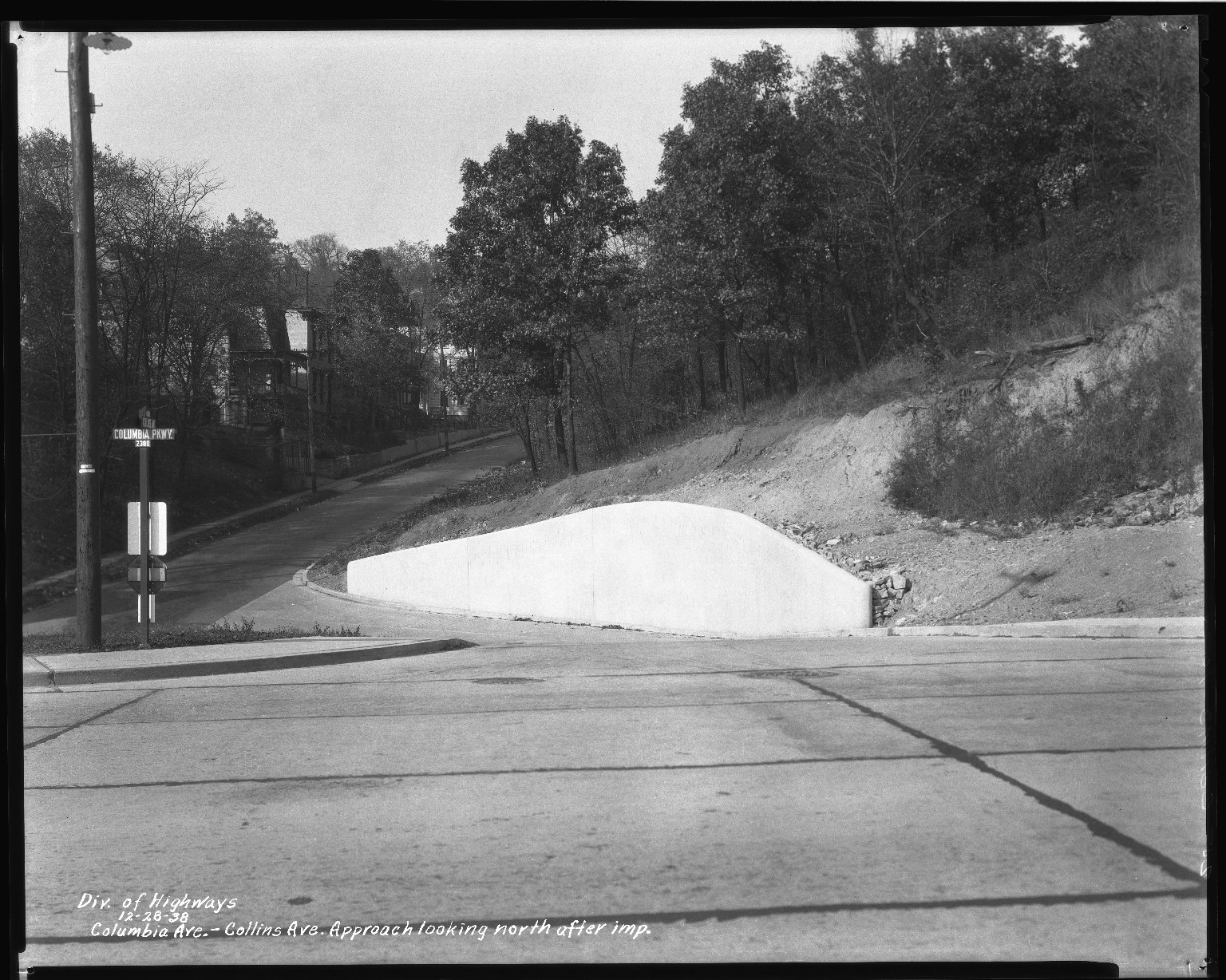 Street Improvement Photographs -- Box 50, Folder 30 (December 28, 1938) -- negative, 1938-12-28