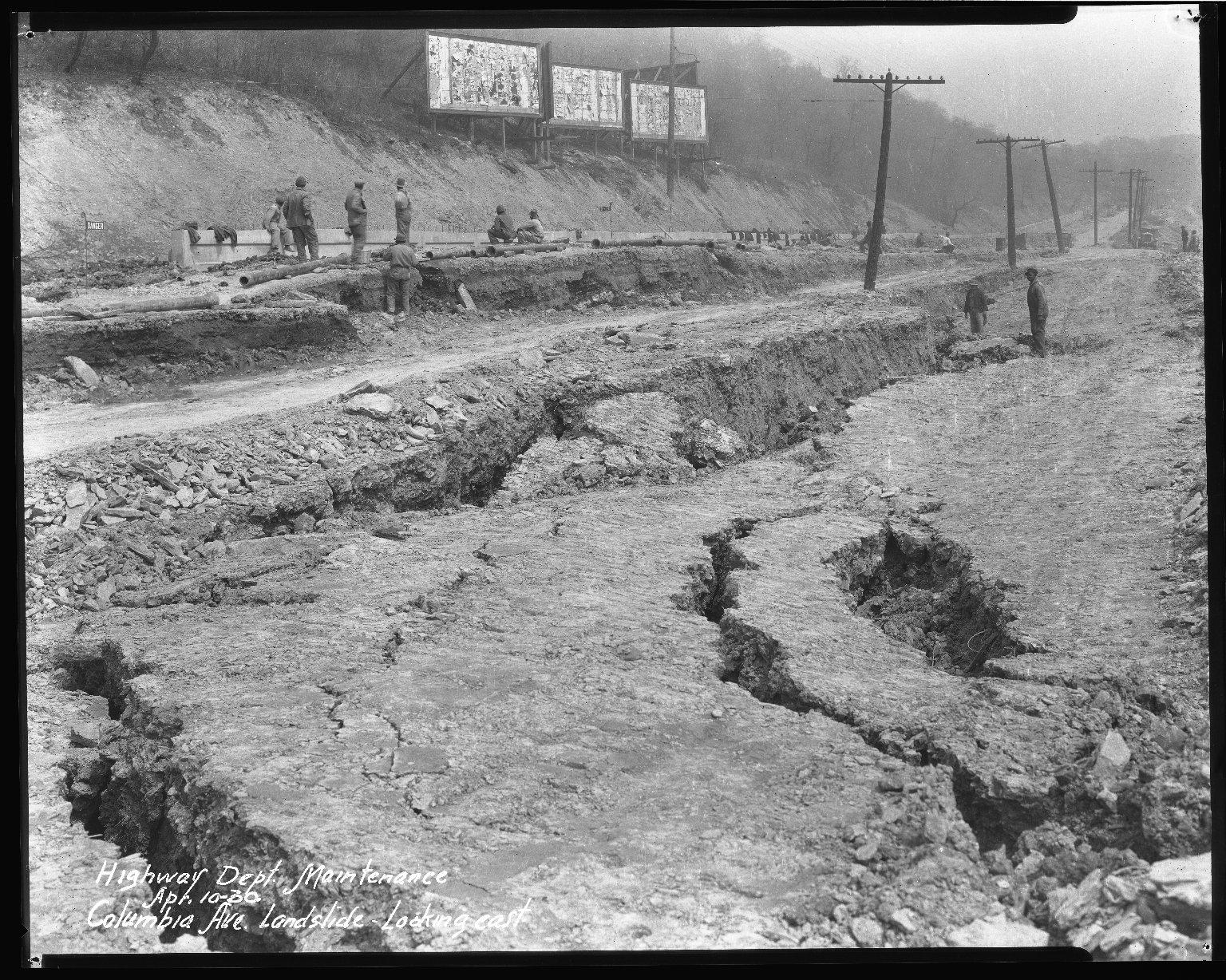 Street Improvement Photographs -- Box 51, Folder 02 (April 4, 1930 - April 10, 1930) -- negative, 1930-04-10