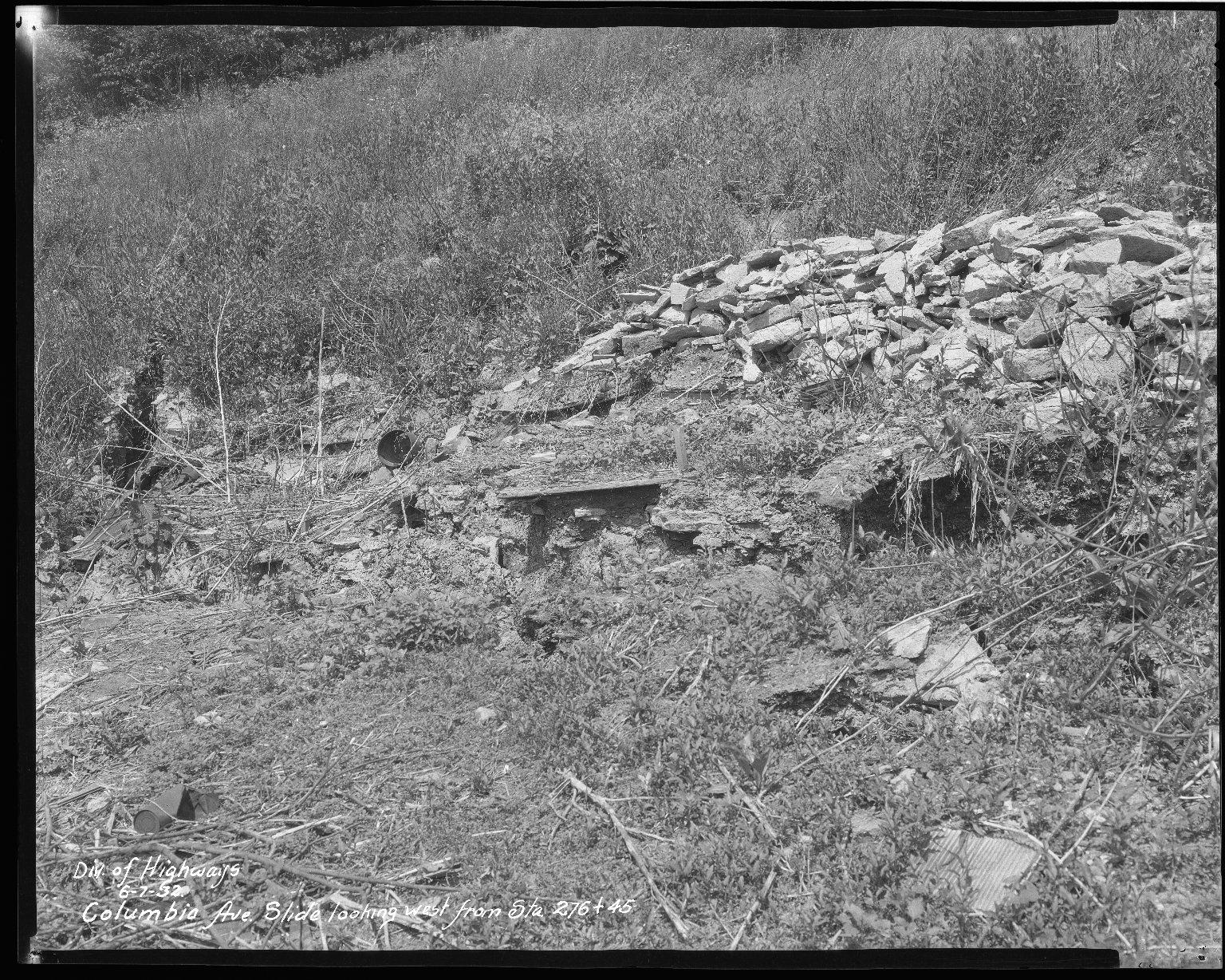 Street Improvement Photographs -- Box 51, Folder 06 (June 7, 1932 - June 8, 1932) -- negative, 1932-06-07