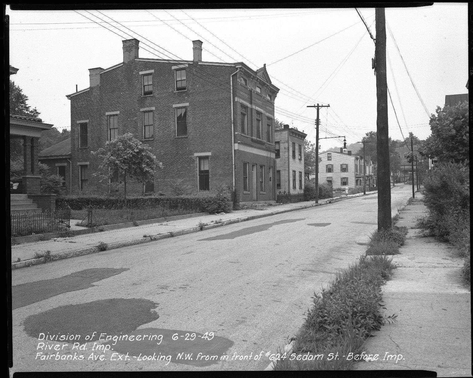 Street Improvement Photographs -- Box 51, Folder 15 (June 29, 1949) -- negative, 1949-06-29