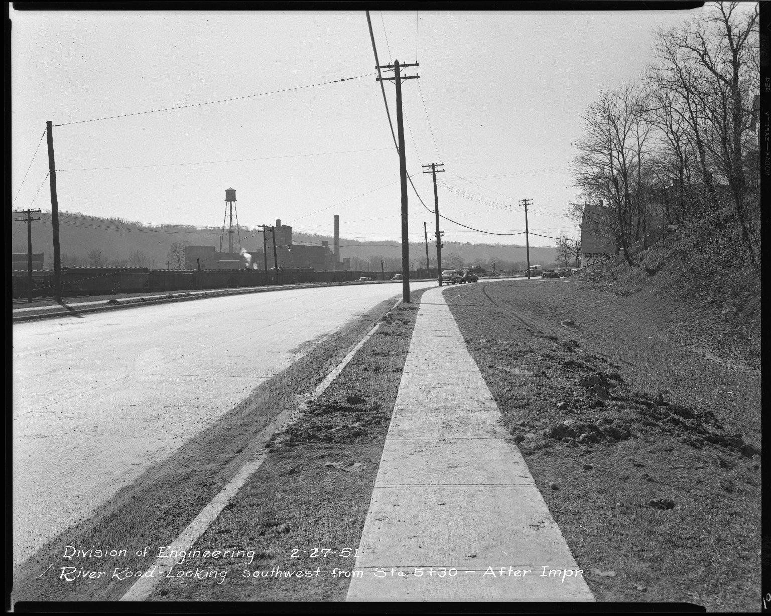 Street Improvement Photographs -- Box 51, Folder 19 (February 27, 1951) -- negative, 1951-02-27