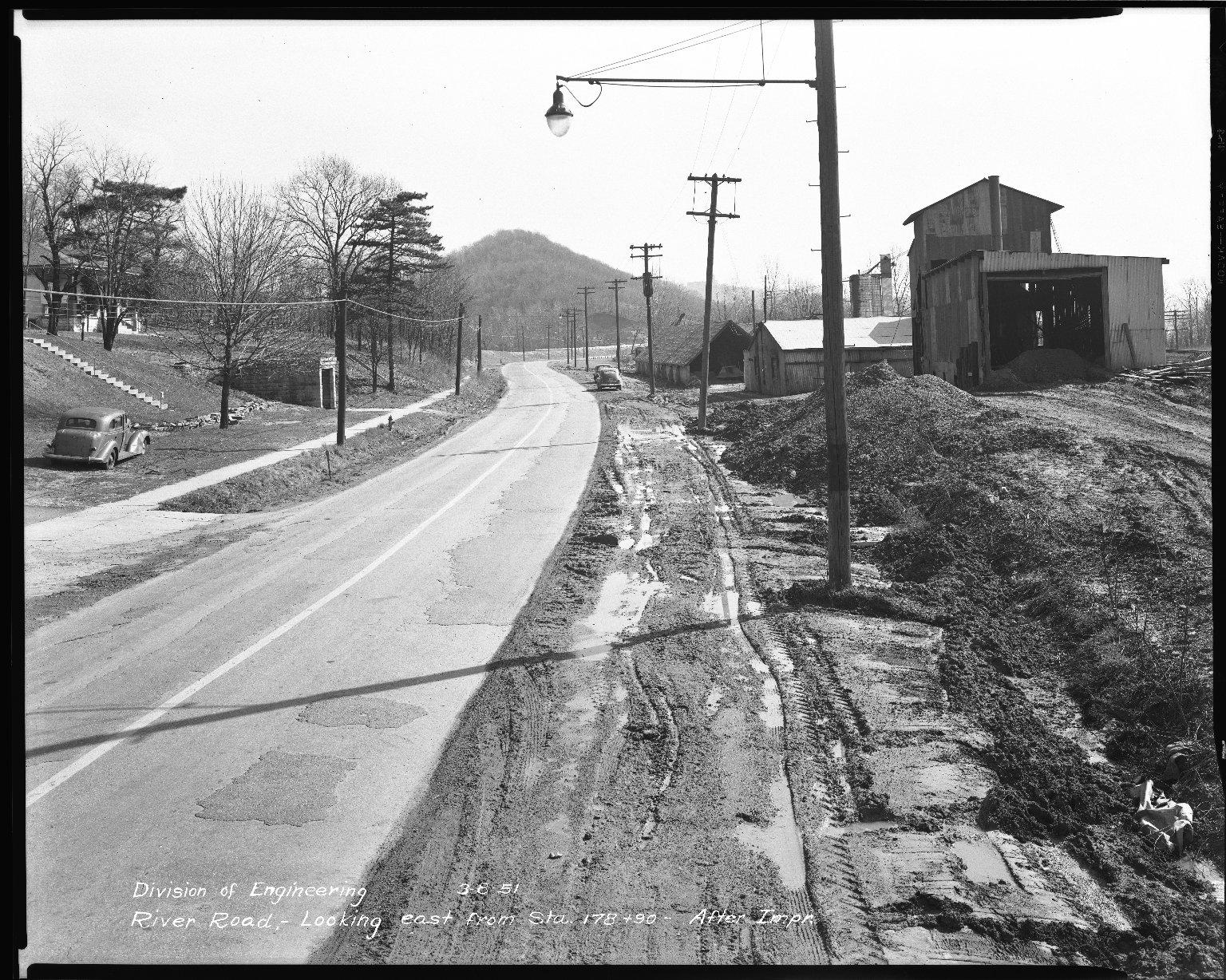 Street Improvement Photographs -- Box 51, Folder 20 (March 8, 1952) -- negative, 1951-03-08