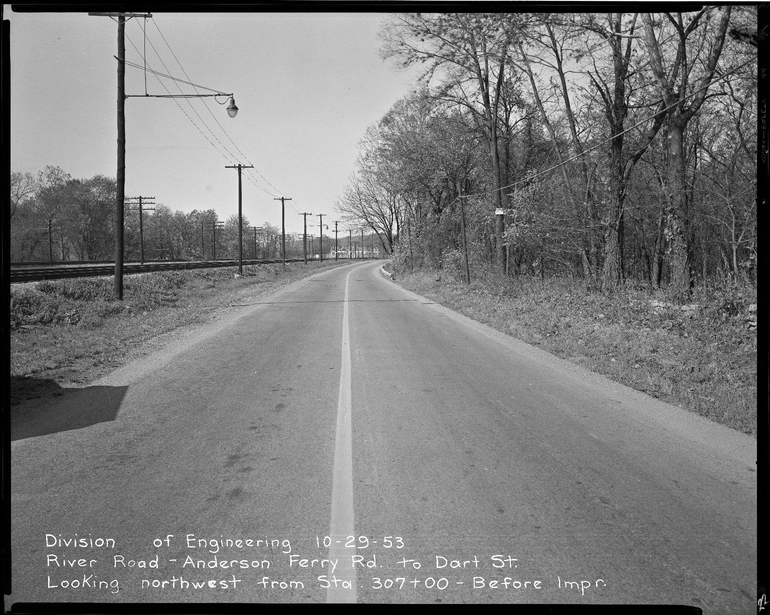Street Improvement Photographs -- Box 51, Folder 32 (October 29, 1953) -- negative, 1953-10-29