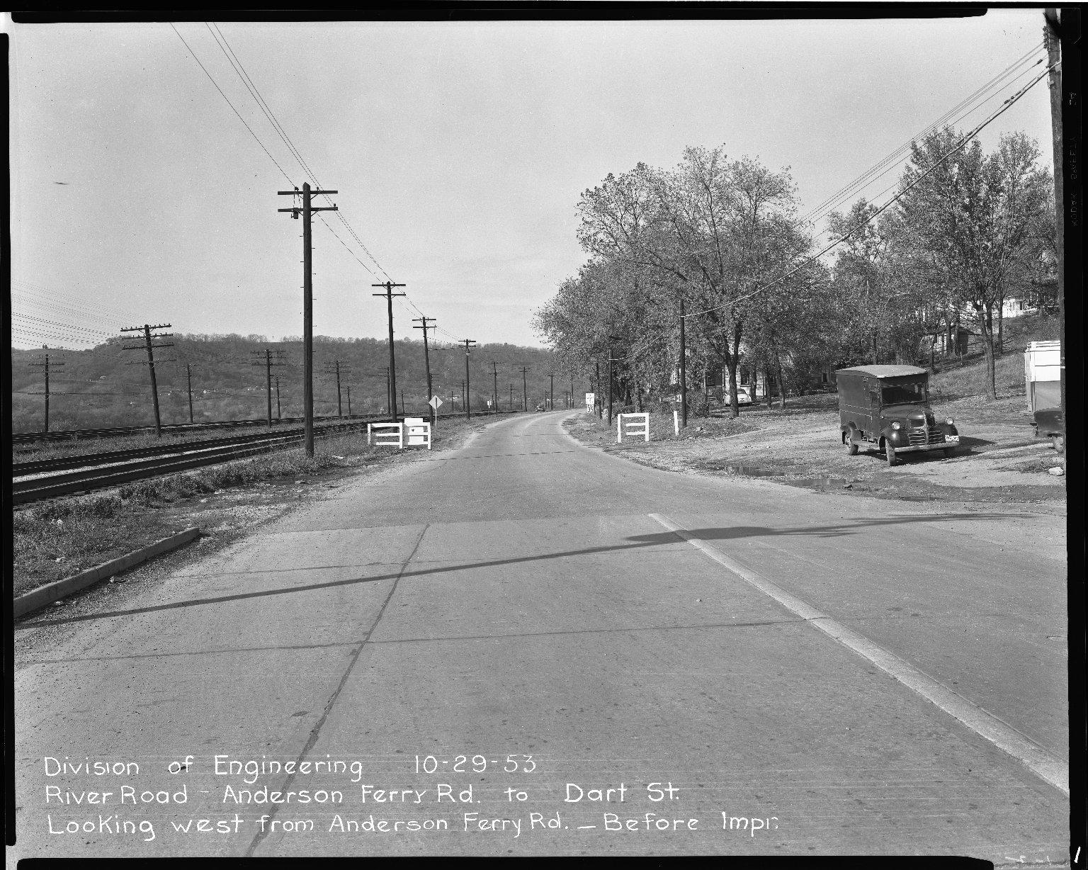 Street Improvement Photographs -- Box 51, Folder 35 (October 29, 1953) -- negative, 1953-10-29