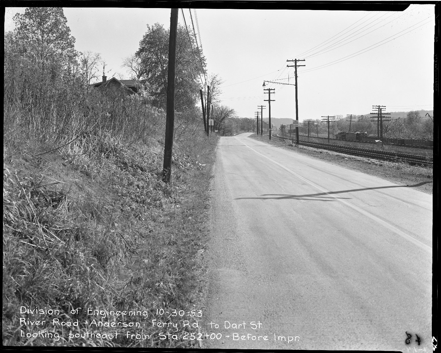 Street Improvement Photographs -- Box 51, Folder 38 (October 30, 1953) -- negative, 1953-10-30