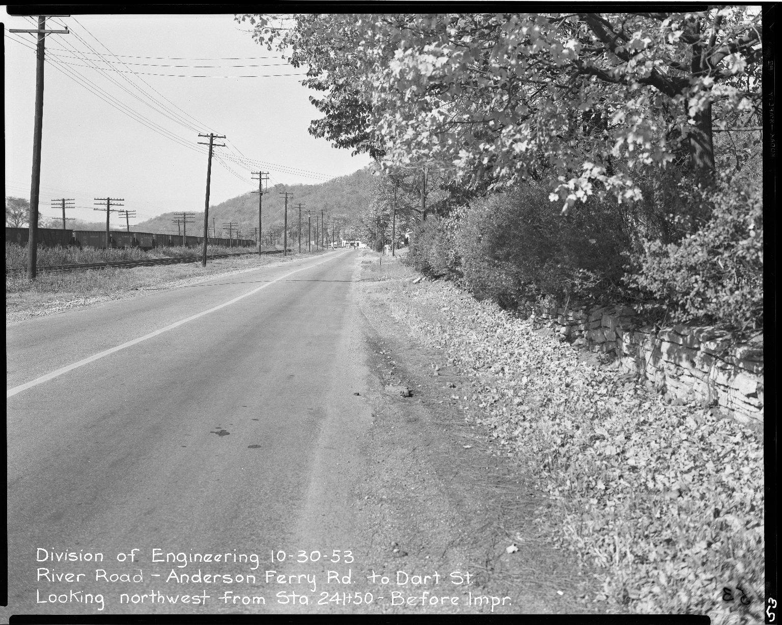 Street Improvement Photographs -- Box 51, Folder 39 (October 30, 1953) -- negative, 1953-10-30
