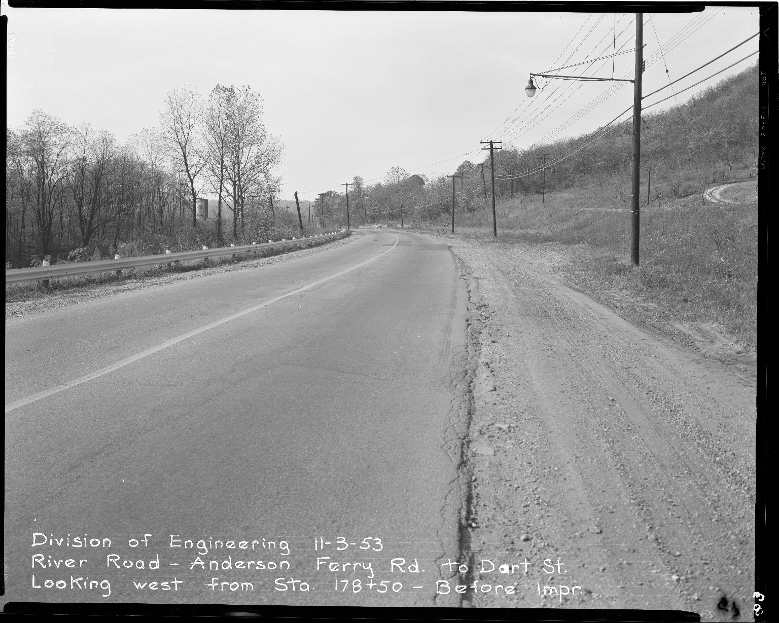 Street Improvement Photographs -- Box 51, Folder 45 (November 3, 1953) -- negative, 1953-11-03
