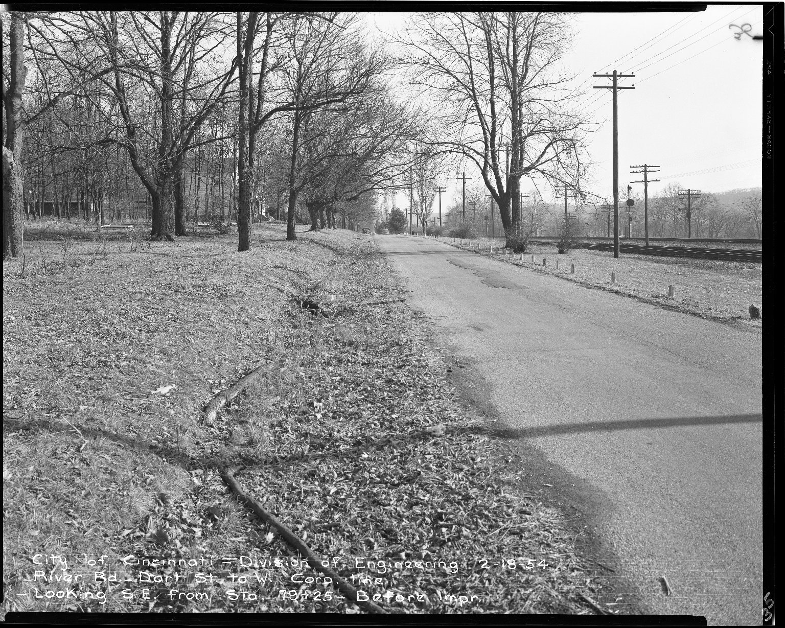 Street Improvement Photographs -- Box 51, Folder 48 (February 18, 1954) -- negative, 1954-02-18