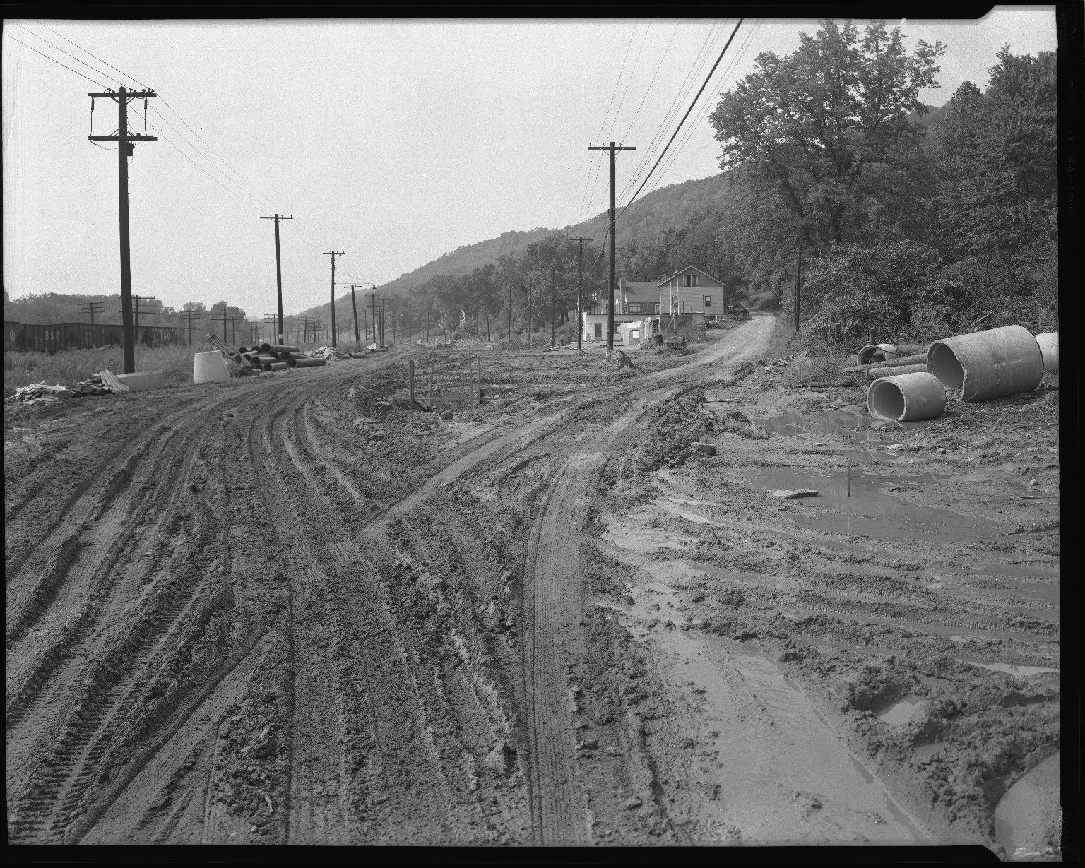 Street Improvement Photographs -- Box 52, Folder 07 (August 29, 1954) -- negative, 1954-08-29